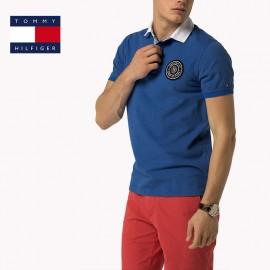 Polo Tommy bleu Hilfiger en piqué