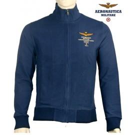 Veste Aeronautica militare zippée  jersey uni coton