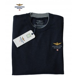 Pull col ras-du-cou Aeronautica militare 100% laine mérinos